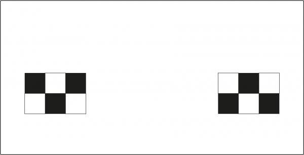 Kalibriertafel Frontkamera für NISSAN Typ 2